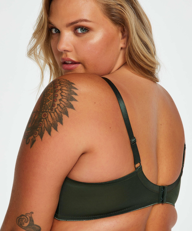 Nina Non-Padded Underwired Minimizer Bra, Green, main