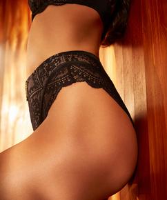 Oceana High-Waisted Brazilian Rebecca Mir, Black