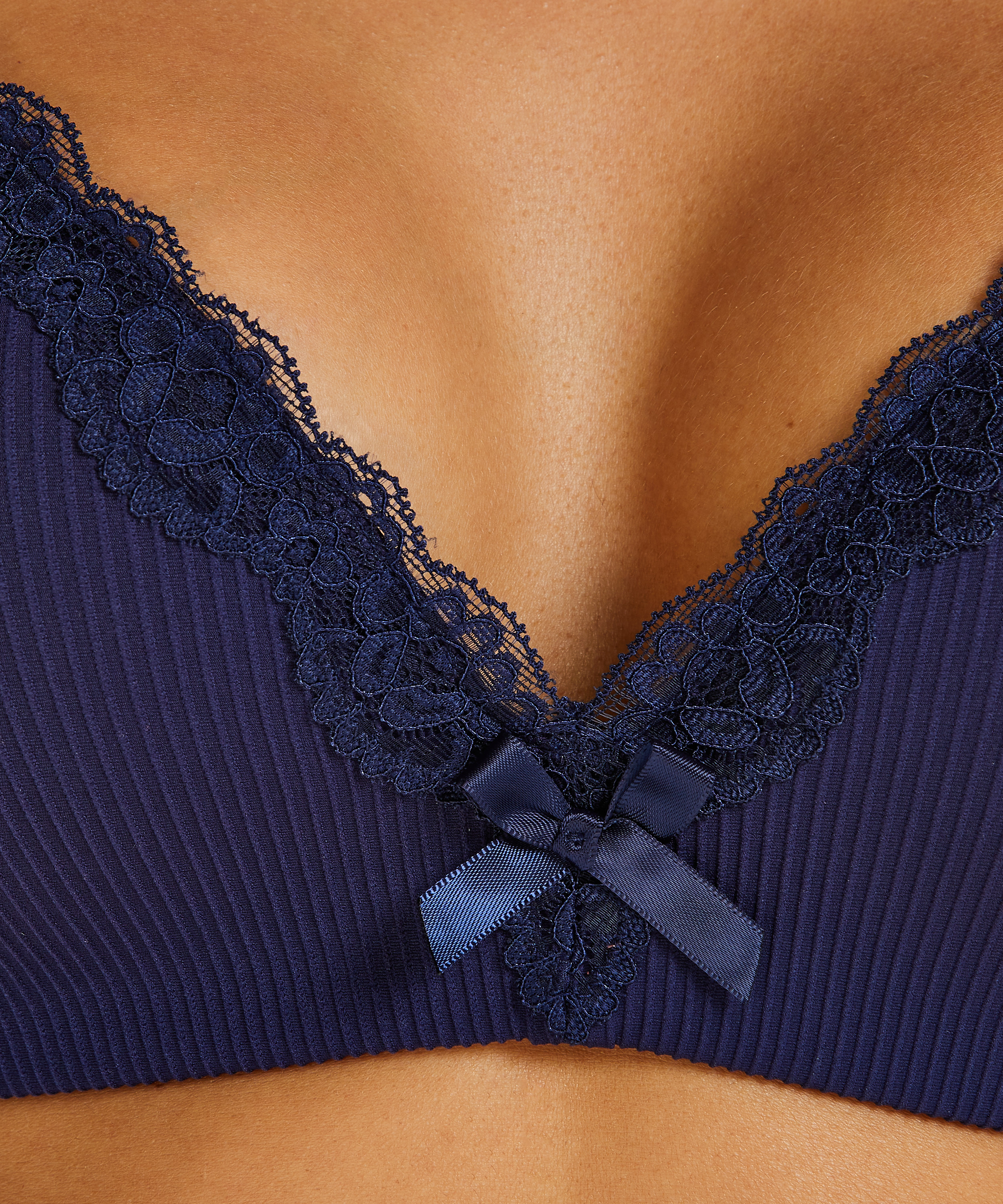 Lola Padded Non-Wired Bra, Blue, main