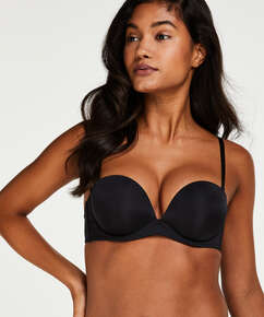 Padded Underwired Strapless Maximizer Bra, Black