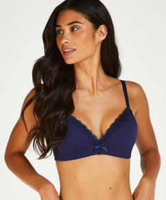 Lola Padded Non-Wired Bra, Blue