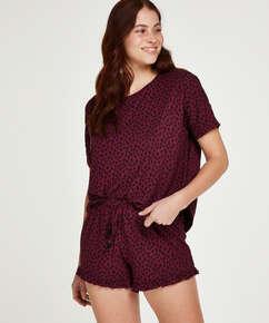 Dot Short Pyjama Set, Red