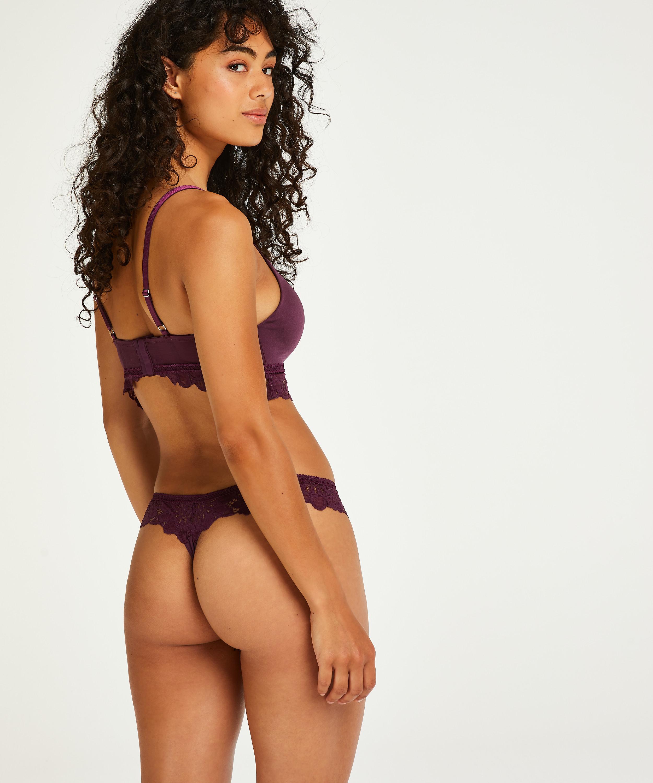 Evey Padded Non-Underwired push-up Bra, Purple, main