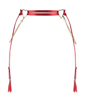 Heart suspender, Red