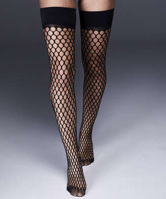 Stay-up Fishnet Private Big Sexy, Black