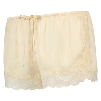 Satin pyjama shorts, Beige