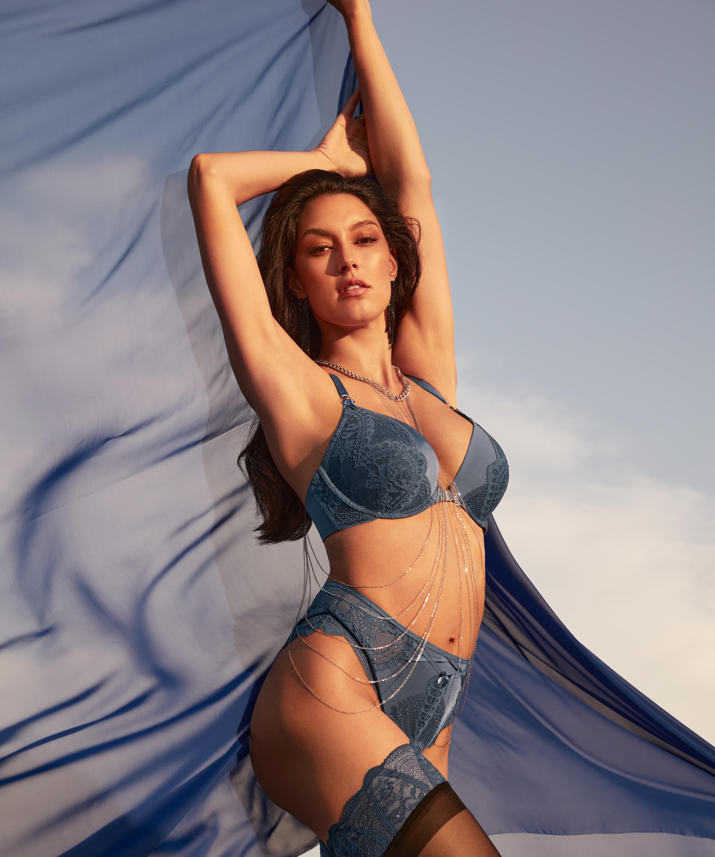 Philomena High-Waisted Brazilian Rebecca Mir, Blue, main
