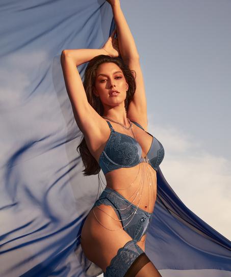 Philomena High-Waisted Brazilian Rebecca Mir, Blue