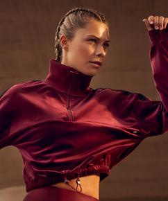 HKMX Sport sweater Velours, Red