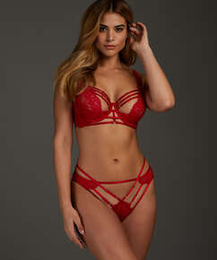 Iggy half padded cup underwired bra, Red