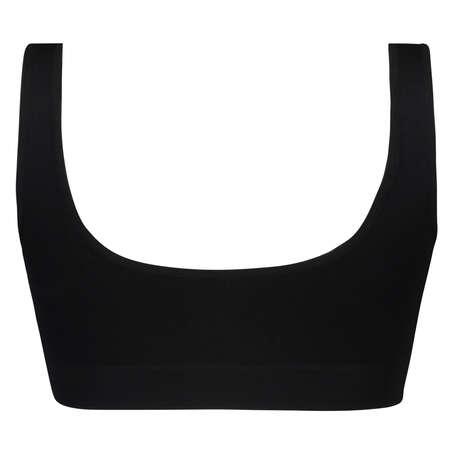 Seamless Crop Top, Black