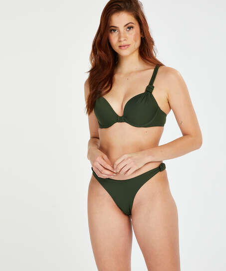 Luxe high-cut bikini bottoms, Green