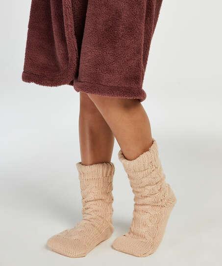 Knitted socks, White