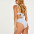 High-cut Scallop bikini bottoms, Blue