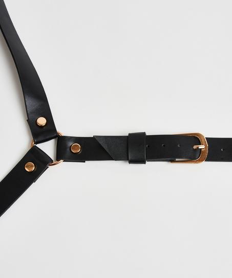Private Body Harness Choker, Black