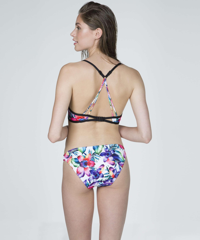 White paradise low bikini bottoms, White, main