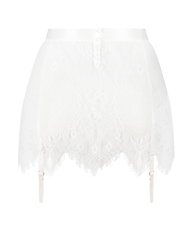 Lace Skirt, White, main