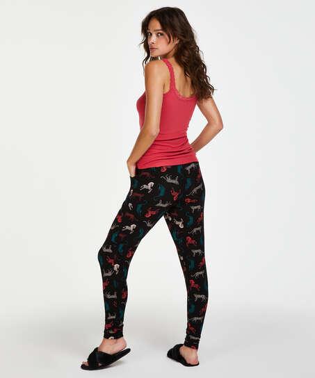 Jersey pyjama pants, Black