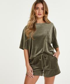 Velvet Pocket shorts, Green