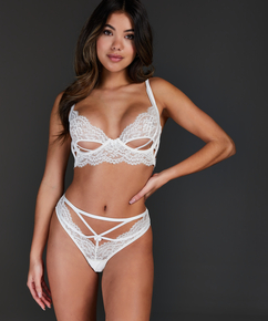 Eve Brazilian with open crotch, White