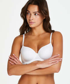 Angie Padded Underwired Bra, White