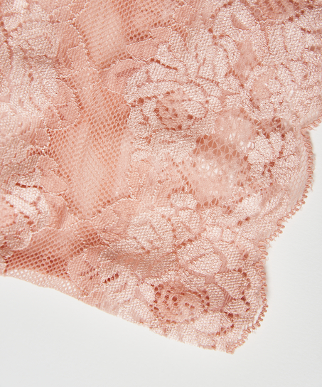 Lace thigh bands, Pink