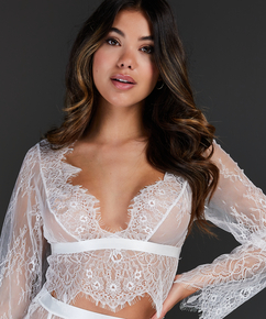 All-over Lace Top, White
