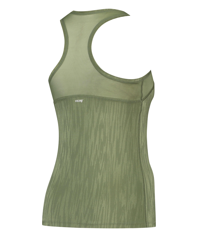 HKMX Sport slim fit tank top, Green, main