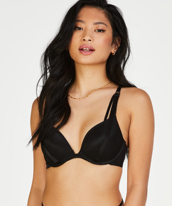 Raffaela padded push-up underwired bra, Black