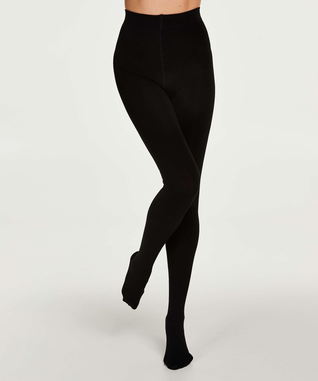 140 denier thermal tights, Black, main