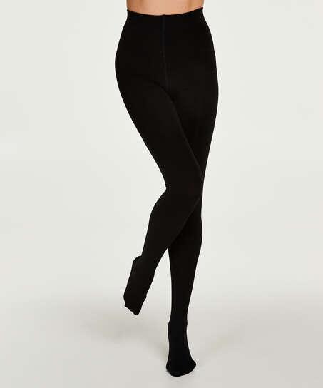 140 denier thermal tights, Black
