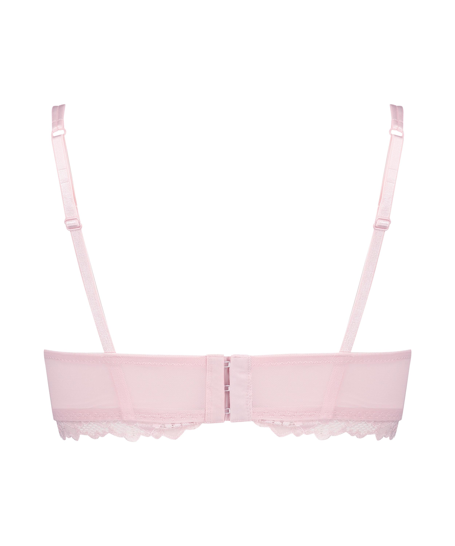 Yvonne padded non-underwired bra, Pink, main