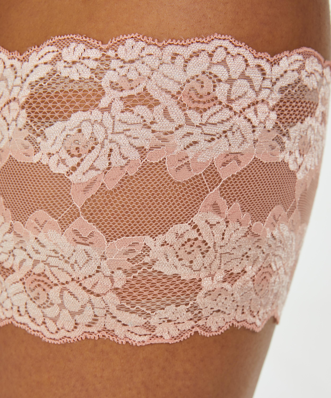 Lace thigh bands, Pink, main