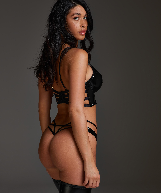 Seductress Thong, Black, main