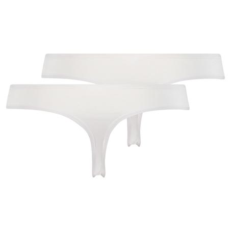 2 Cotton Thongs Kim, White