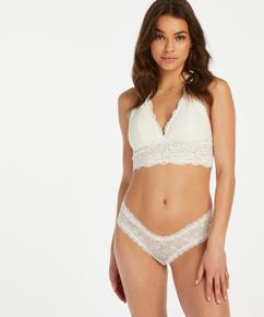 V-shaped Brazilian knickers mesh, White