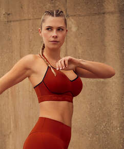 HKMX Sports bra The All Star Level 2, Red