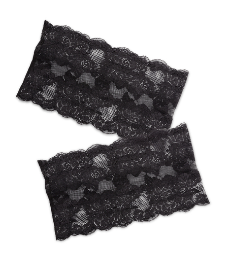 Lace thigh bands, Black