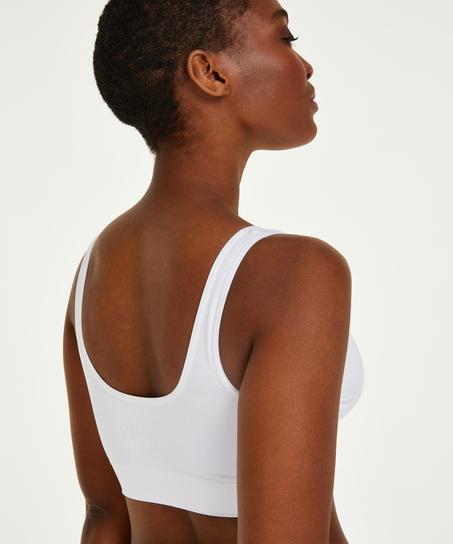 Seamless Crop Top, White