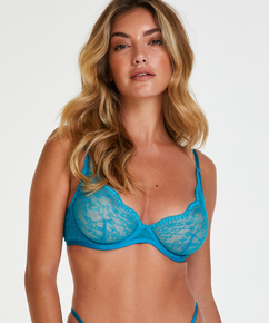 Isabelle Non-Padded Underwired Bra, Blue