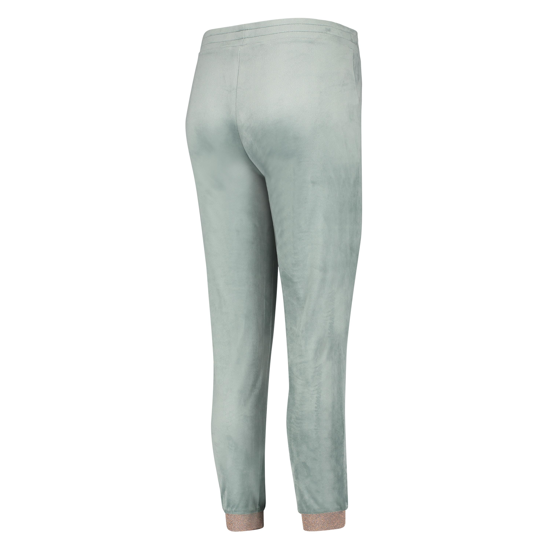 Velour Lurex Jogging Bottoms, Green, main