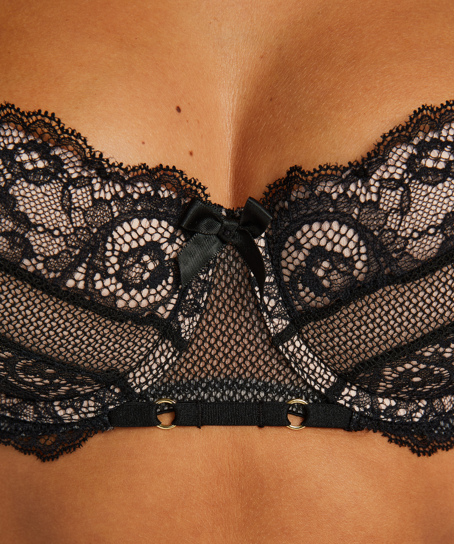 Sierra padded underwired bra, Black, main