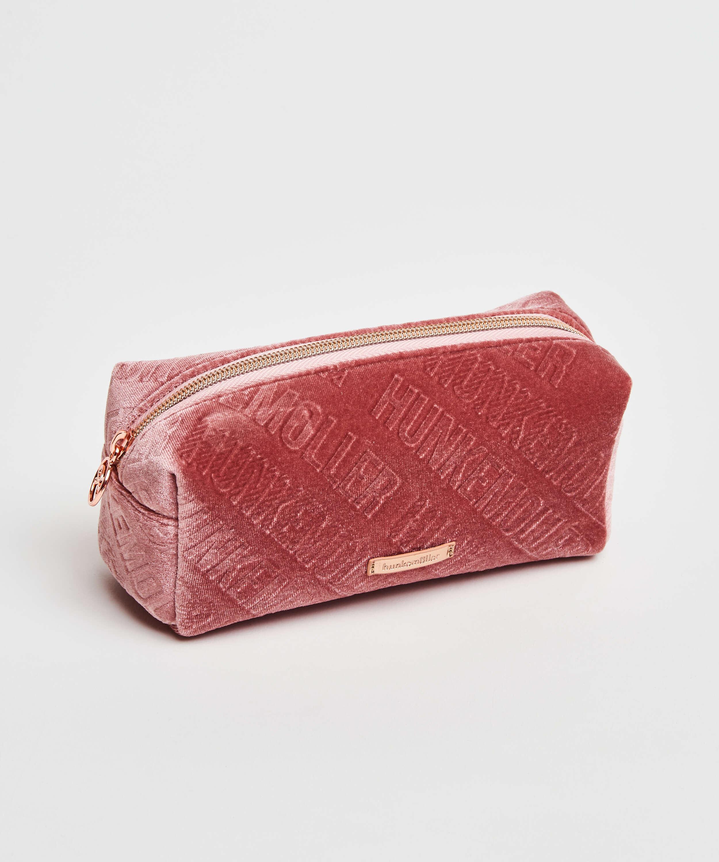Velvet Make-Up Bag, Pink, main