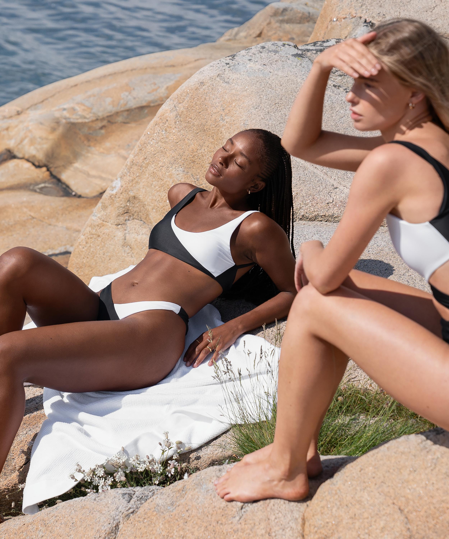 Bikini crop top 2Tone HKM x NA-KD, White, main