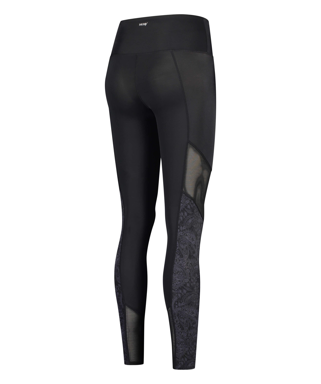 HKMX High waisted sport leggings Rodeo, Black, main