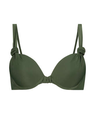 Luxe push-up bikini top Cup A - E, Green