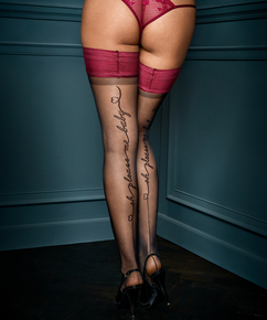 Baby Private 15 Denier Hold-Ups, Red