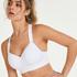 HKMX Sports bra The All Star Level 2, White