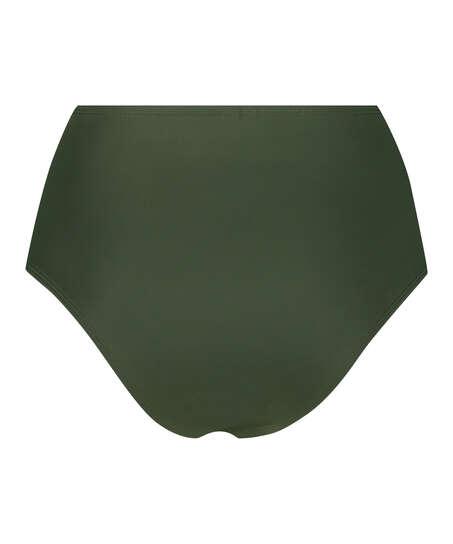 Luxe high-cut bikini shorts , Green