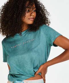 Short-Sleeved Pyjama Top, Green